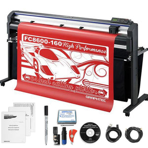 "Graphtec Professional FC8600-160 64"" Vinyl Cutter with BONUS Software & 3 Year Warranty - Swing Design"
