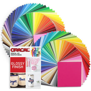 "Oracal 631 and 651 Vinyl 12"" x 12"" - 129 Assorted Colors with 651 Swatch Book Oracal Vinyl Oracal"