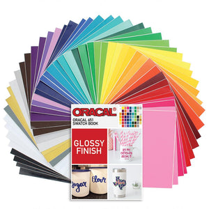 "Oracal 631 Matte and 651 Glossy Vinyl 12"" x 12"" - 48 Assorted Colors with 651 Swatch Book - Swing Design"