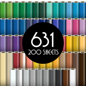 "Oracal 631 Matte Vinyl - 200 Sheets - Build a Bundle, 12"" x 12"" Oracal Vinyl Oracal"