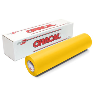 "Oracal 631 Matte Vinyl 24"" x 30 FT Roll - Yellow Oracal Vinyl Oracal"