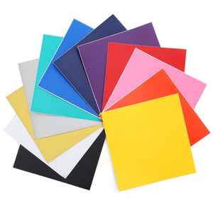 "Oracal 631 Matte Vinyl Bundle 12"" x 12"" - 12 Assorted Colors Pack #1 - Swing Design"