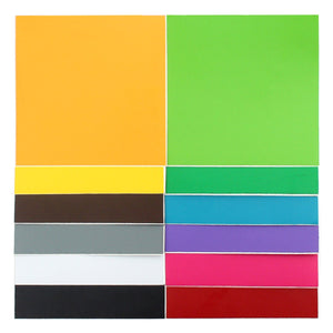 "Oracal 631 Matte Vinyl Bundle 12"" x 12"" - 12 Assorted Colors Pack #2 - Swing Design"