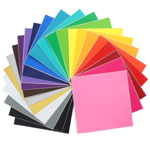 "Oracal 631 Matte Vinyl Bundle 12"" x 12"" - 24 Assorted Colors - Swing Design"