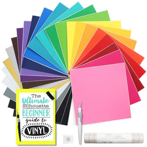 "Oracal 631 Matte Vinyl Bundle with Accesories 12"" x 12"" - 24 Assorted Colors - Swing Design"