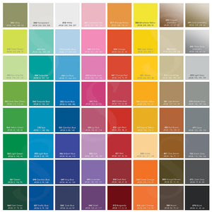 "Oracal 631 Matte Vinyl Sheets 24"" x 12"" - 87 Assorted Colors Available - Sale! - Swing Design"