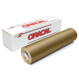 "Oracal 641 Matte Vinyl 12"" x 6 ft Roll - Metallic Gold Oracal Vinyl Oracal"
