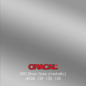 Oracal 641 Matte Vinyl Sheets - Metallic Silver Grey - Swing Design