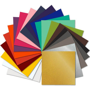"Oracal 641 Vinyl Bundle 12"" x 12""- 21 Assorted Colors Sample Pack - Swing Design"
