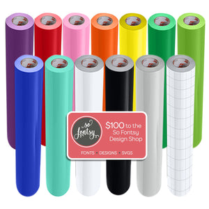 "Oracal 651 Glossy 24"" x 6 Ft Vinyl Rolls Plus Transfer Tape - 12 Pack Oracal Vinyl Oracal"