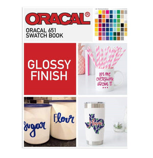 Oracal 651 Glossy Swatch Book | Color Chart Oracal Vinyl Oracal