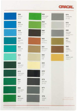 Oracal 651 Glossy Swatch Book | Color Chart - Swing Design