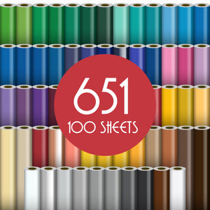 "Oracal 651 Glossy Vinyl - 100 Sheets - Build a Bundle, 12"" x 12"" Oracal Vinyl Oracal"