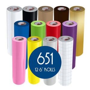 Oracal 651 Glossy Vinyl - 12 Rolls - Build a Bundle, 6ft Rolls Oracal Vinyl Oracal