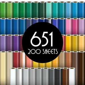 "Oracal 651 Glossy Vinyl - 200 Sheets - Build a Bundle, 12"" x 12"" Oracal Vinyl Oracal"