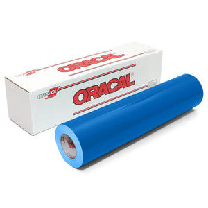 "Oracal 651 Glossy Vinyl 24"" Wide Rolls - Azure Blue Oracal Vinyl Oracal"
