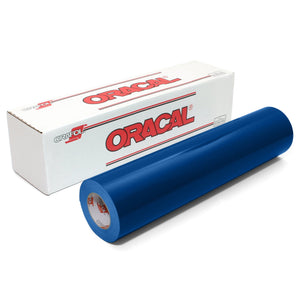 "Oracal 651 Glossy Vinyl 24"" x 150 FT Roll - Blue Oracal Vinyl Oracal"