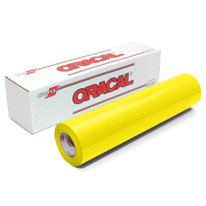 "Oracal 651 Glossy Vinyl 24"" x 150 FT Roll - Brimstone Yellow Oracal Vinyl Oracal"