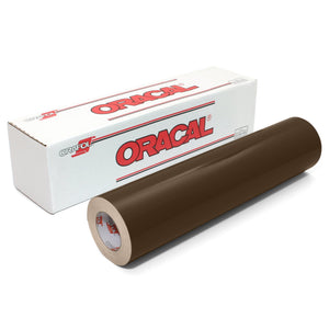 "Oracal 651 Glossy Vinyl 24"" x 150 FT Roll - Brown Oracal Vinyl Oracal"