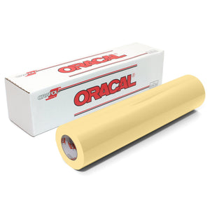 "Oracal 651 Glossy Vinyl 24"" x 150 FT Roll - Cream Oracal Vinyl Oracal"