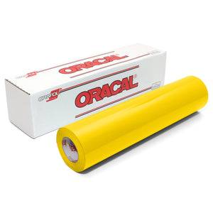 "Oracal 651 Glossy Vinyl 24"" x 150 FT Roll - Light Yellow Oracal Vinyl Oracal"