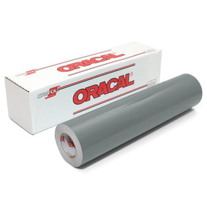 "Oracal 651 Glossy Vinyl 24"" x 30 FT Roll - Grey Oracal Vinyl Oracal"