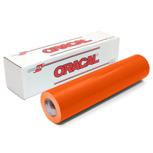 "Oracal 651 Glossy Vinyl 24"" x 30 FT Roll - Orange Oracal Vinyl Oracal"