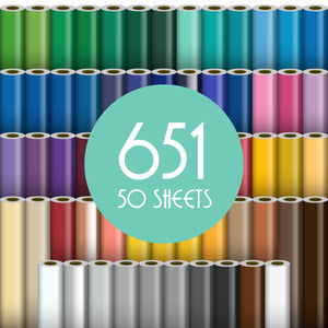 "Oracal 651 Glossy Vinyl - 50 Sheets - Build a Bundle, 12"" x 12"" Oracal Vinyl Oracal"