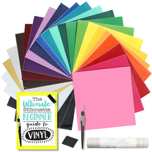 Oracal 651 Glossy Vinyl Bundle with Accessories 12 x 12 - 24 Assorted Colors Oracal Vinyl Oracal