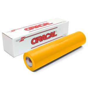 Oracal 651 Glossy Vinyl Rolls - Medium Yellow Oracal Vinyl Oracal