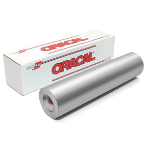 Oracal 651 Glossy Vinyl Rolls - Metallic Silver Grey Oracal Vinyl Oracal