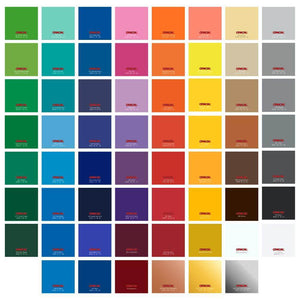 "Oracal 651 Glossy Vinyl Sheets 12"" x 12"" - 3 Pack - Swing Design"