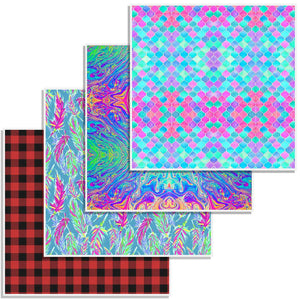 "Oracal 651 Patterned Vinyl 12"" x 12"" Sheet - Bold Bundle - Swing Design"