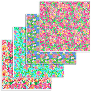 "Oracal 651 Patterned Vinyl 12"" x 12"" Sheet - Floral Bundle - Swing Design"