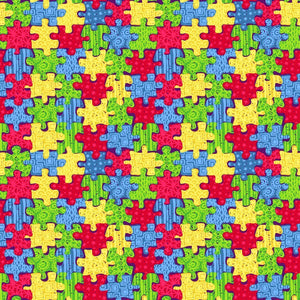 "Oracal 651 Patterned Vinyl - ""Autism Awareness"" - Swing Design"