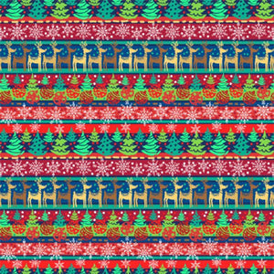 "Oracal 651 Patterned Vinyl - ""Christmas Stripes"" - Swing Design"