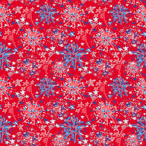 "Oracal 651 Patterned Vinyl - ""Independence Day Red"" - Swing Design"