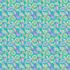 "Oracal 651 Patterned Vinyl - ""Paisley Fiesta Green"" - Swing Design"