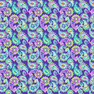 "Oracal 651 Patterned Vinyl - ""Paisley Fiesta Navy"" - Swing Design"