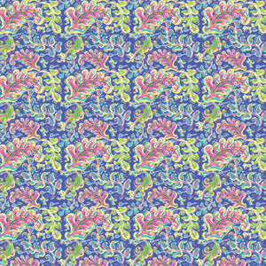 "Oracal 651 Patterned Vinyl - ""Toucan Swirl Blue"" - Swing Design"