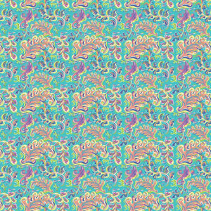 "Oracal 651 Patterned Vinyl - ""Toucan Swirl Teal"" - Swing Design"