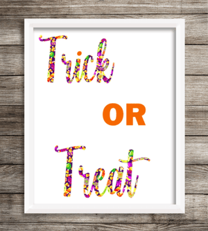 "Oracal 651 Patterned Vinyl - ""Trick Or Treat"" - Swing Design"