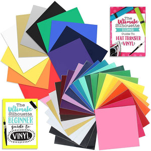 Oracal 651 Vinyl & Siser Easyweed Heat Transfer Starter Kit Bundle w/ Silhouette School Guides - Swing Design