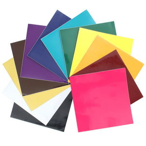 "Oracal 651 Vinyl Bundle 12"" x 12"" - 12 Assorted Colors Pack #1 - Swing Design"