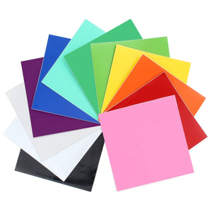 "Oracal 651 Vinyl Bundle 12"" x 12"" - 12 Assorted Colors Pack #2 - Swing Design"