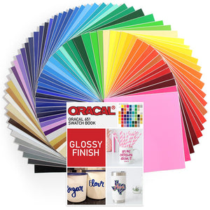 "Oracal 651 Vinyl Bundle 12"" x 12"" - 61 Assorted Colors - Swing Design"