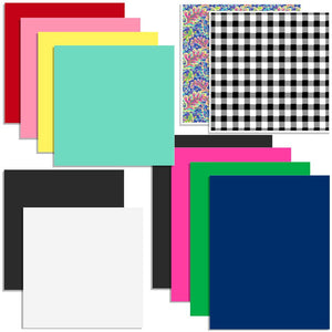 Oracal Vinyl & Siser EasyWeed Heat Transfer Starter Sample Pack - 12 Sheets - Swing Design
