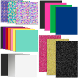 Oracal Vinyl & Siser EasyWeed Heat Transfer Starter Sample Pack - 20 Sheets - Swing Design