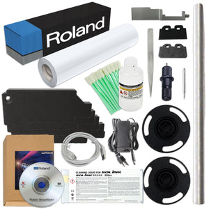 "Roland BN-20 Desktop 20"" Eco-Solvent Printer & Cutter w/ CMYK+MT Inks Eco Printers Roland"