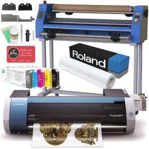 "Roland BN-20 Eco-Solvent 20"" Printer & Cutter w/ CMYK+WH Inks & GFP Laminator Eco Printers Roland"